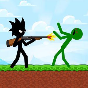 Stickman Zombie Shooter Logo