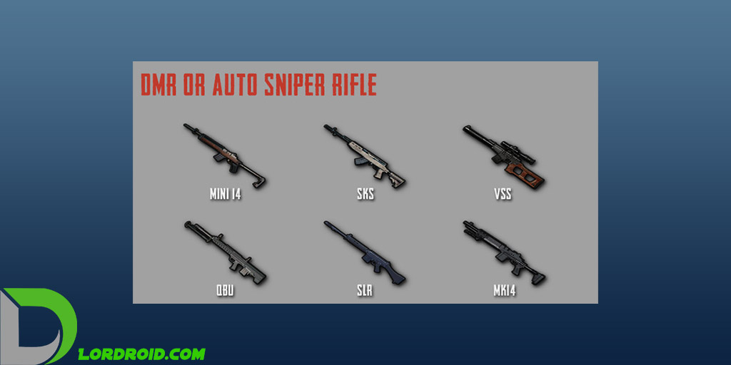 اسلحه های Designated Marksman Rifle پابجی موبایل