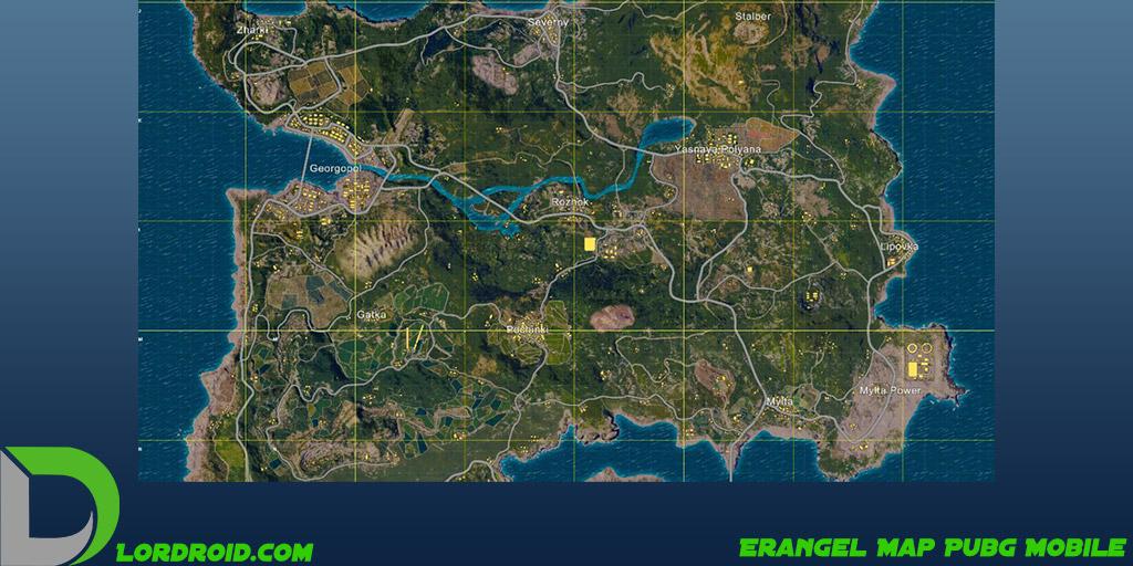 نقشه Erangel پابجی موبایل