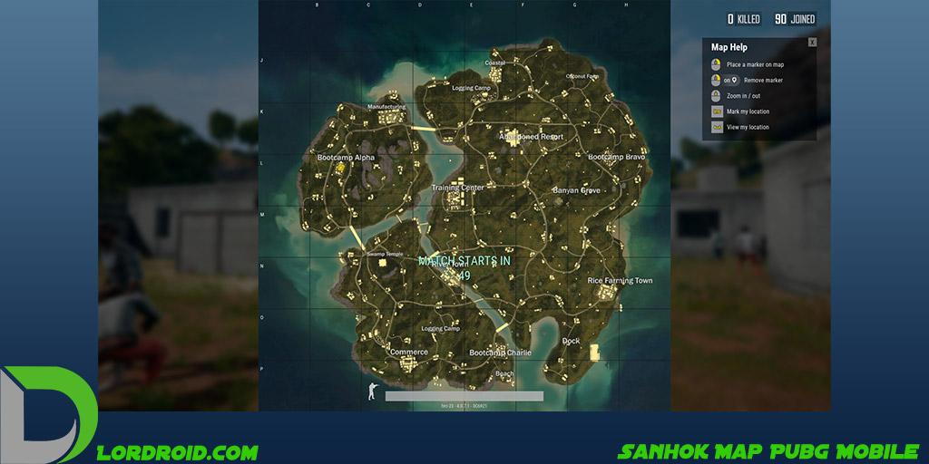 نقشه Sanhok پابجی موبایل