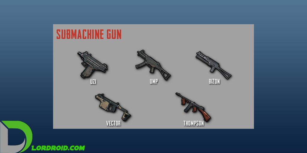 اسلحه های Submachine Gun پابجی موبایل