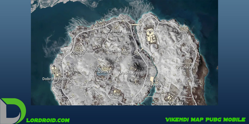 نقشه Vikendi پابجی موبایل