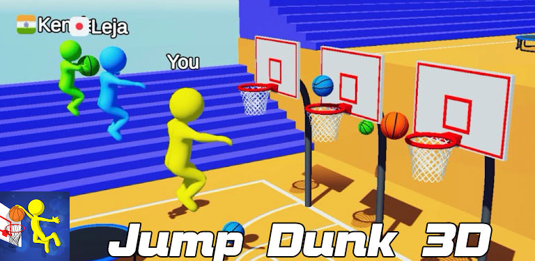 دانلود Jump Dunk 3D - بازی پرش به دریاچه اندروید + مود